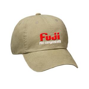 Khaki cap with 'Fuji rod components' emblem