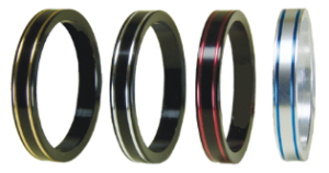 Double Stripe Reel Seat Trim Rings in all 4 colors